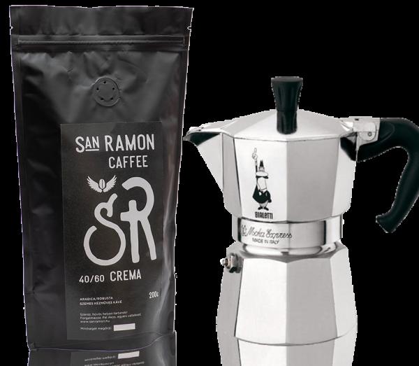 bialetti mokka csomag kotyogós kávéfőző
